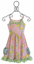 Mustard Pie Finn Knit Dress in Sweet Pink for Girls (12Mos,18Mos,24Mos)