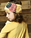 Mustard Pie Flora Band for Girls in Mustard Vanilla Stripes