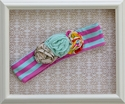 Mustard Pie Flora Band in Pink and Aqua Stripe (Size LG 7-12)