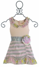 Mustard Pie Flora Tunic in Sweet Pink for Girls (12Mos,3T,6X)