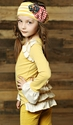 Mustard Pie Ginger Top for Girls in Mustard Dot