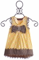 Mustard Pie Girls Adelaide Top Yellow with Bow