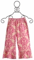 Mustard Pie Girls Bella Pant Pink Damask