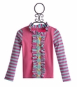 Mustard Pie Girls Cardigan Pink and Aqua (Size 12 Mos)