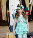 Mustard Pie Girls Dress Aqua Mia