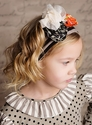 Mustard Pie Girls Flora Headband in Black Stripe