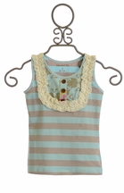 Mustard Pie Girls Harper Tank in Spa Blue (Size 18Mos)