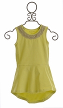 Mustard Pie Girls James Peplum Tunic in Sweat Pea