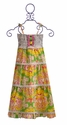 Mustard Pie Girls Maxi Dress Yellow Floral