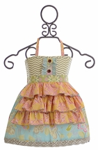 Mustard Pie Girls Rigby Apron Top (12Mos,4,10)