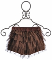 Mustard Pie Girls Ruffle Shorts Ava Brown Lace