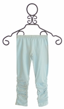 Mustard Pie Girls Spa Blue Lelia Leggings (Size 12Mos)