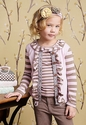 Mustard Pie Girls Stella Cardi Light Pink Stripes