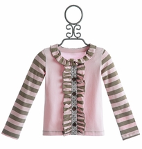 Mustard Pie Girls Stella Cardi Light Pink Stripes (18Mos & 5)