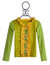 Mustard Pie Green and Yellow Stella Cardi Kids (12Mos & 18Mos)