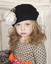 Mustard Pie Gretchen Black Lace Girls Hat