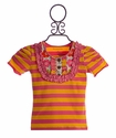 Mustard Pie Harper Tee in Pink and Yellow Stripe
