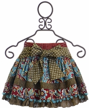 Mustard Pie Harvest Splendor Rosalyn Skirt (24Mos,4T,4)