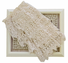 Mustard Pie Ivory Ankle Flairs Crochet Lace