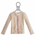Mustard Pie Ivory Girls Cardigan