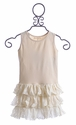 Mustard Pie Ivory Girls Lace Top Amelia