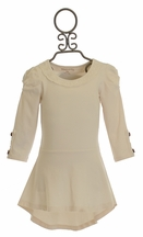 Mustard Pie Ivory Tunic Top for Girl