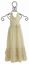 Mustard Pie Jade Maxi Vanilla Cream for Girls (12Mos,24Mos,3T,5)