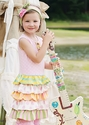 Mustard Pie Josephine Girls Rainbow Dress