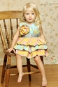 Mustard Pie Jubilee Romper for Girls with Ruffles