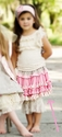 Mustard Pie Kenzington Girls Skirt in Pink and Grey