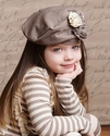 Mustard Pie Light Brown Girls Hat in Lace Gretchen