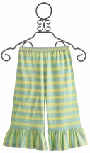 Mustard Pie Lime Stripe Delilah Pants for Girls (Size 12Mos)