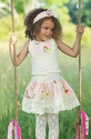 Mustard Pie Limited Edition Girls Easter Skirt Set