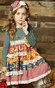 Mustard Pie McKenna Dress in Multi Print for Girls
