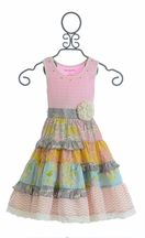 Mustard Pie McKenna Dress Multi Ruffle Pink (12Mos,24Mos,4T)