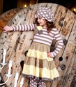 Mustard Pie McKenna Dress with Pink Stripes
