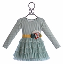Mustard Pie Mia Tunic Dress for Girls in Spa Blue