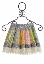 Mustard Pie Mix It Up Skirt in Multi Panel (18Mos & 24Mos)
