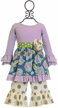 Mustard Pie Olivia Dress Set Emerald Dance