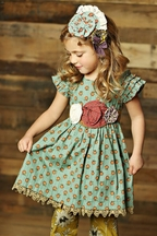 Mustard Pie Party Dress Green Delphine