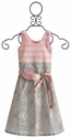 Mustard Pie Pink and Grey Girls Adelaide Dress