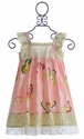 Mustard Pie Pink Dress with Butterflies for Girls