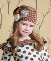 Mustard Pie Polka Dot Flora Headband in Brown