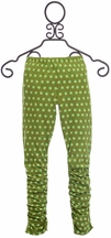 Mustard Pie Polka Dot Leggings Emerald Dance