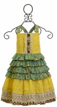 Mustard Pie Reagan Apron Dress for Girls (Size 2T)