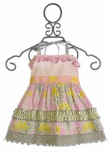 Mustard Pie Rigby Twirl Top for Girls in Sweet Pink (4T,5,10)