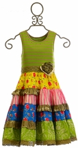 Mustard Pie Rose Garden Mckenna Dress (12Mos,18Mos,4T,6)
