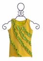 Mustard Pie Rowan Girls Tank in Yellow and Green