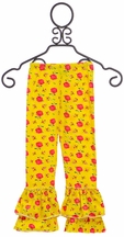Mustard Pie Ruffle Leggings Tango in Yellow (Size 18Mos)