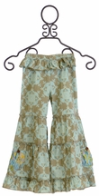 Mustard Pie Sage Blue Geo Pixie Pant (12Mos,18Mos,2T,3T,4T)